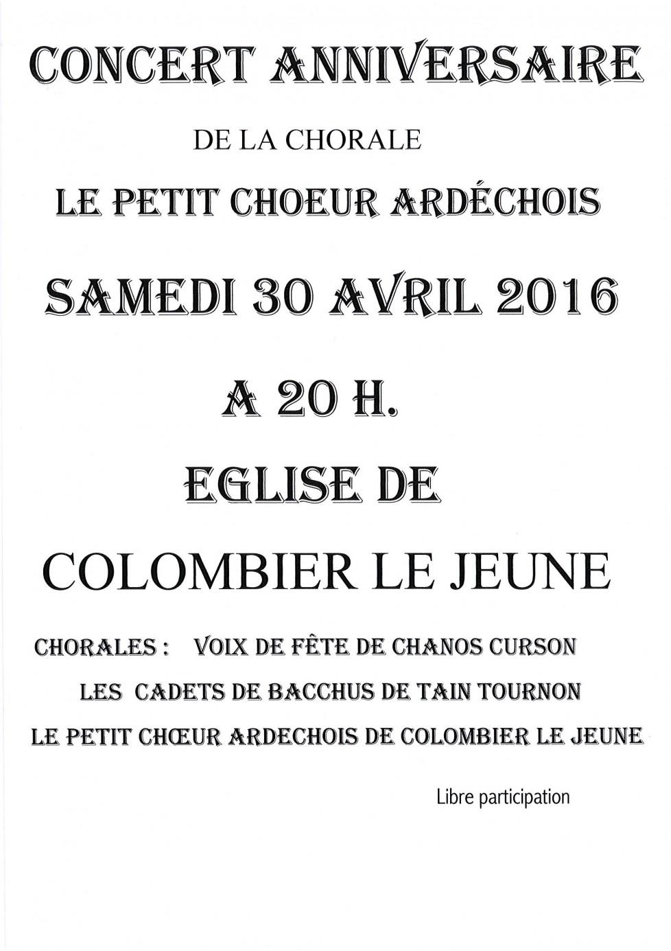 concert petit choeur ardéchois 2016